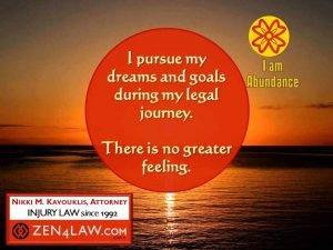 pursue dreams legal affirmation