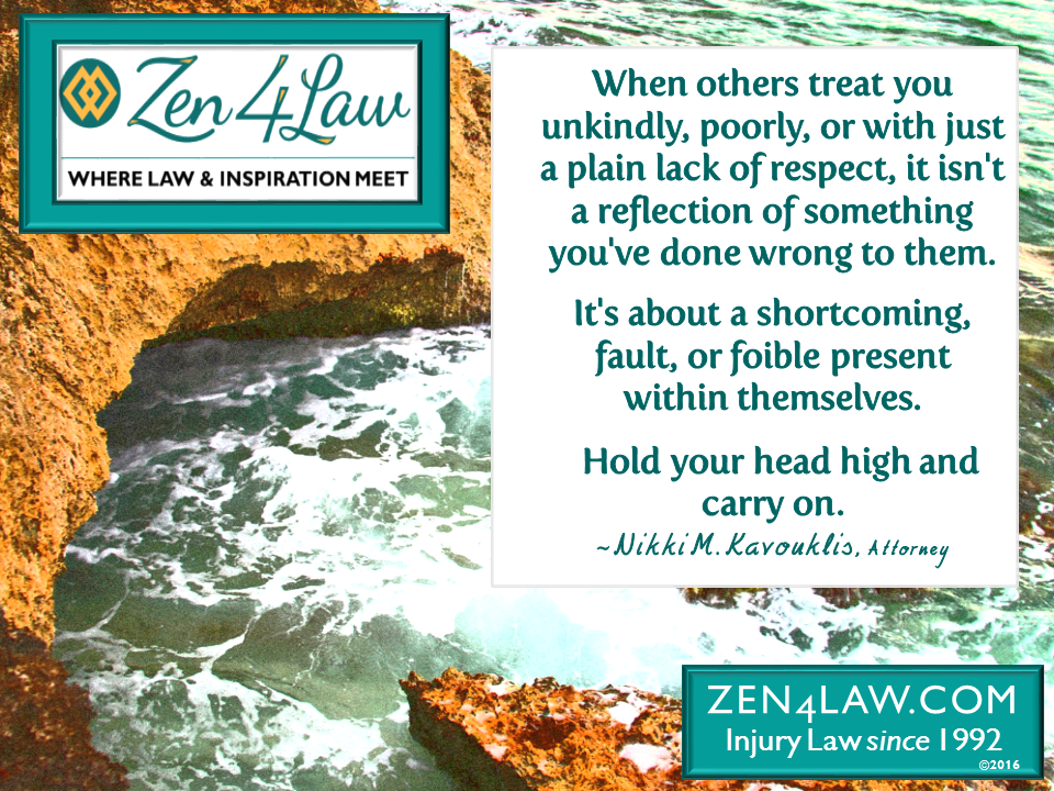 Conquer Legal Challenges; Hold Head High & Carry On!